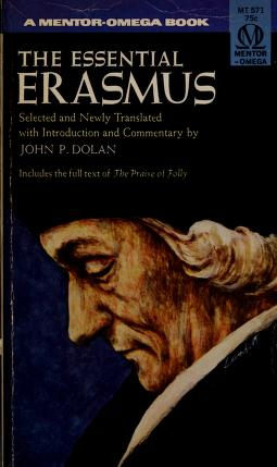 Cover of: The Essential Erasmus (Essentials) by Desiderius Erasmus