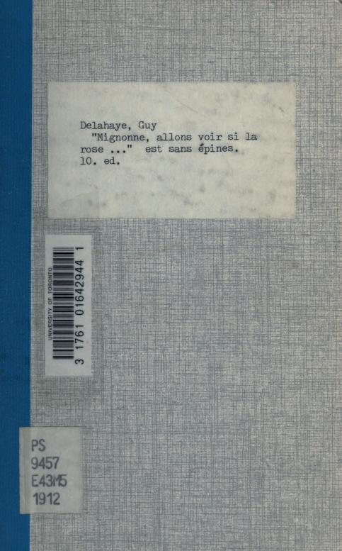 """Guy Delahaye - """"Mignonne, allons voir si la rose..."""" est sans épines"""