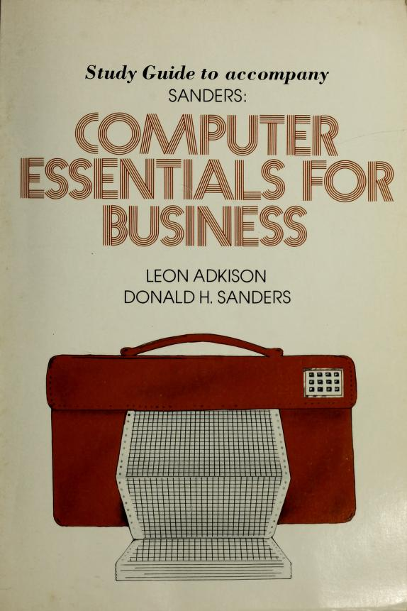 Study guide to accompany Sanders by Leon Adkison