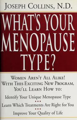 Cover of: What's your menopause type? | Collins, Joseph N.D.
